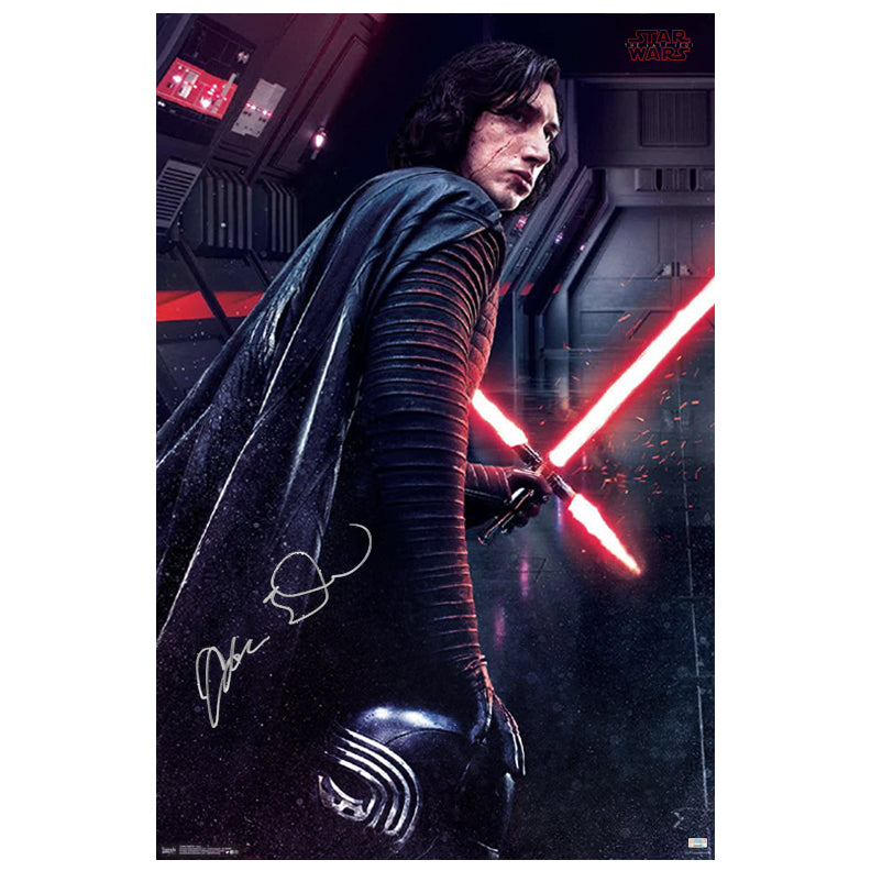 Adam Driver Autographed Star Wars: The Last Jedi Kylo Ren Path Of Darkness 22×34 Poster