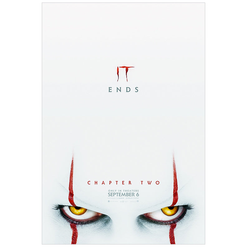 Bill Skarsgård Autographed IT Chapter Two Original 27x40 Double-Sided Movie Poster PRE-ORDER