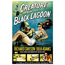 Load image into Gallery viewer, Julia Adams and Ricou Browning Autographed Creature from the Black Lagoon 11x17 Movie Poster