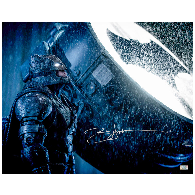 Ben Affleck Autographed Batman vs Superman Dawn of Justice Bat Signal 16x20 Photo