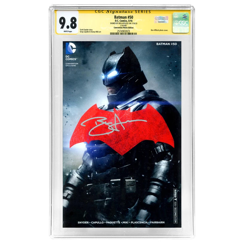 Ben Affleck Autographed Batman #50 CGC Signature Series 9.8 Convention Photo Cover Variant