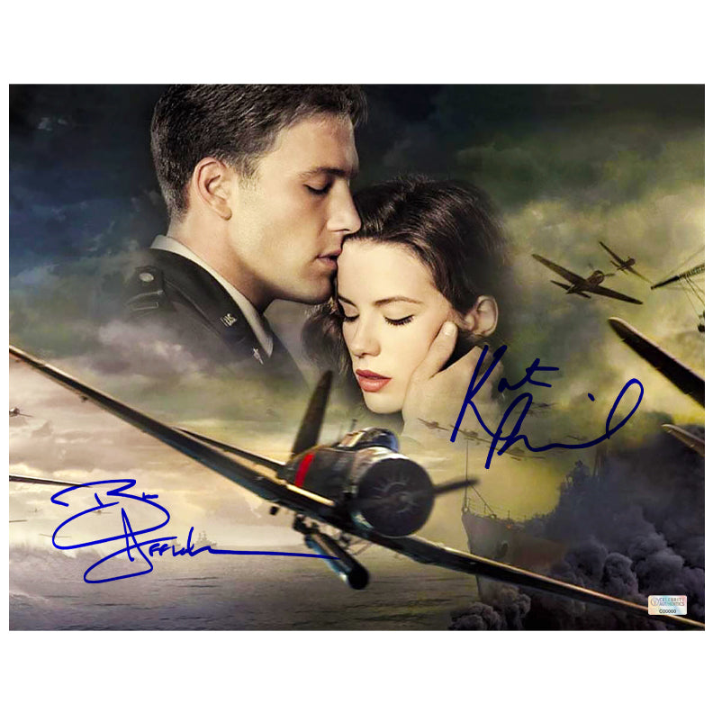 Ben Affleck and Kate Beckinsale Autographed Pearl Harbor 11×14 Photo