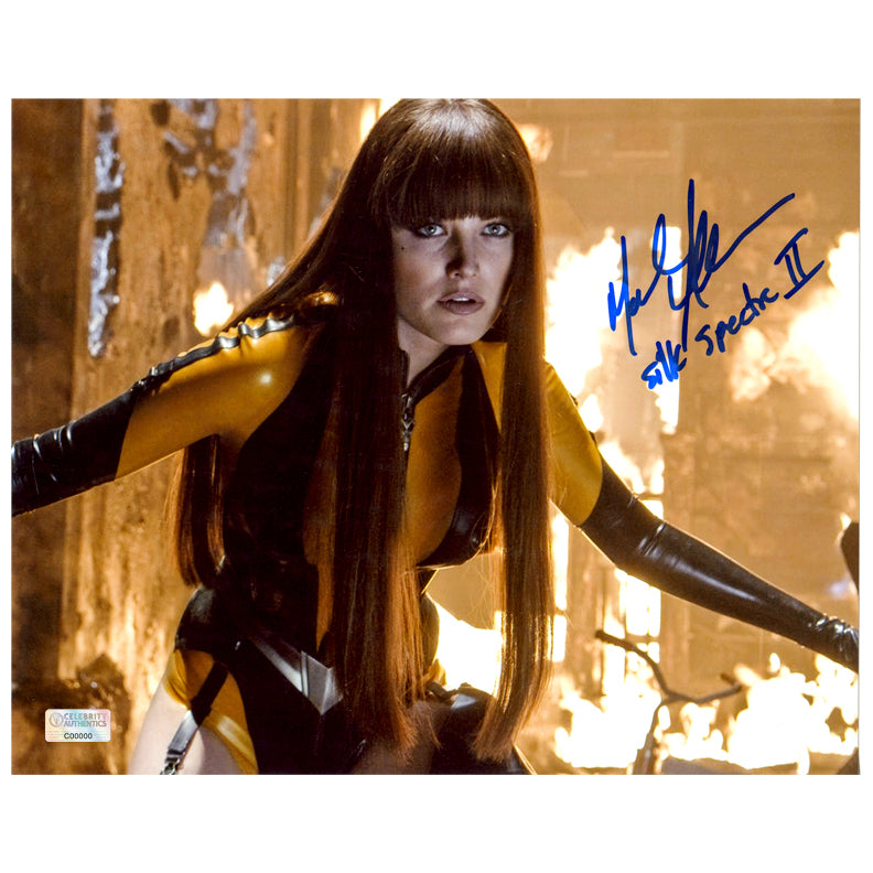 Malin Akerman Autographed Watchmen Silk Spectre II 8x10 Scene Photo