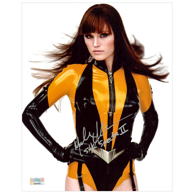 Malin Akerman Autographed Watchmen Silk Spectre II 8x10 Studio Photo