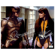 Load image into Gallery viewer, Malin Akerman, Patrick Wilson Autographed Watchmen Silk Spectre Nite Owl 8x10 Photo