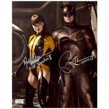 Load image into Gallery viewer, Malin Akerman, Patrick Wilson Autographed Watchmen Silk Spectre Nite Owl 8x10 Scene Photo