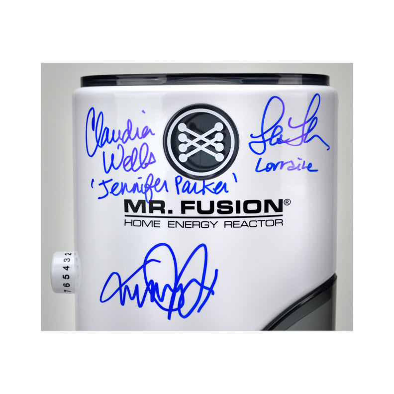 Michael J. Fox, Christopher Lloyd, Tom Wilson, Lea Thompson, Claudia Wells, Bob Gale Autographed Back to the Future Mr. Fusion 1:1 Scale Prop Replica