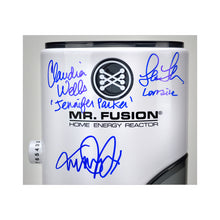 Load image into Gallery viewer, Michael J. Fox, Christopher Lloyd, Tom Wilson, Lea Thompson, Claudia Wells, Bob Gale Autographed Back to the Future Mr. Fusion 1:1 Scale Prop Replica