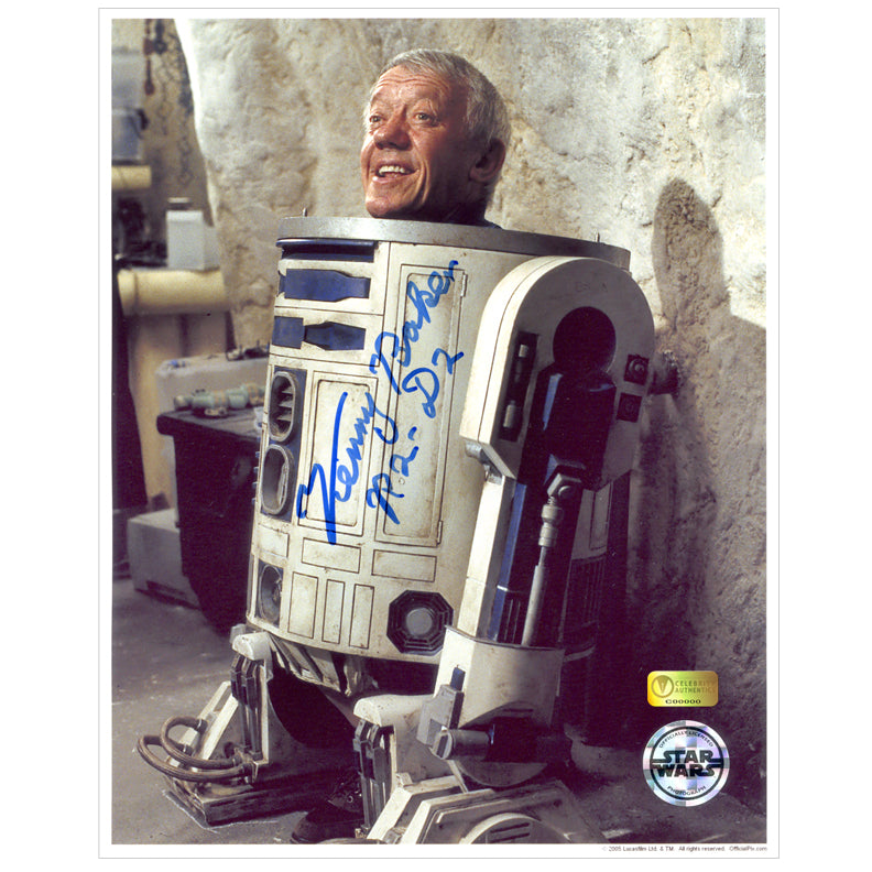 Kenny Baker Autographed Star Wars Inside R2-D2 8x10 Photo B
