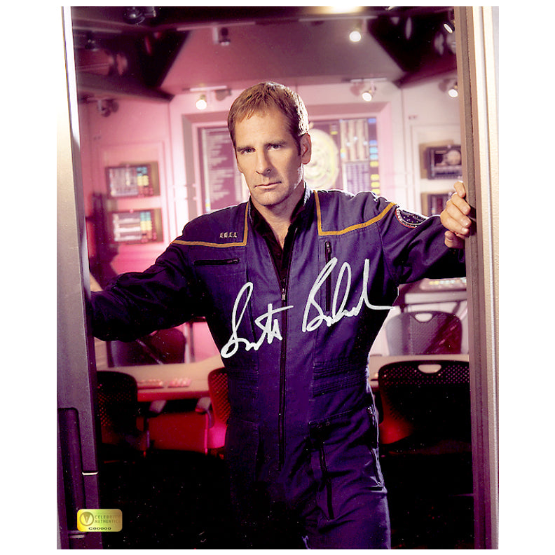 Scott Bakula Autographed Star Trek Enterprise Bridge 8x10 Photo