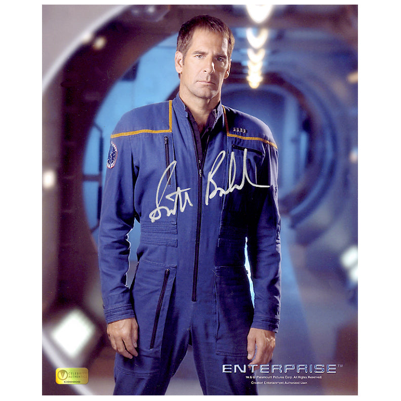 Scott Bakula Autographed Star Trek Enterprise Corridor 8x10 Photo