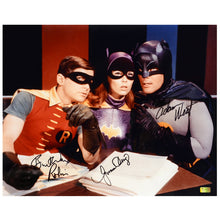 Load image into Gallery viewer, Adam West, Burt Ward and Yvonne Craig Autographed Batman Master Plan 16x20 Photo