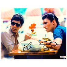 Load image into Gallery viewer, Al Pacino, Steven Bauer Autographed Scarface Tony Montana and Manny Ribera 11x14 Scene Photo