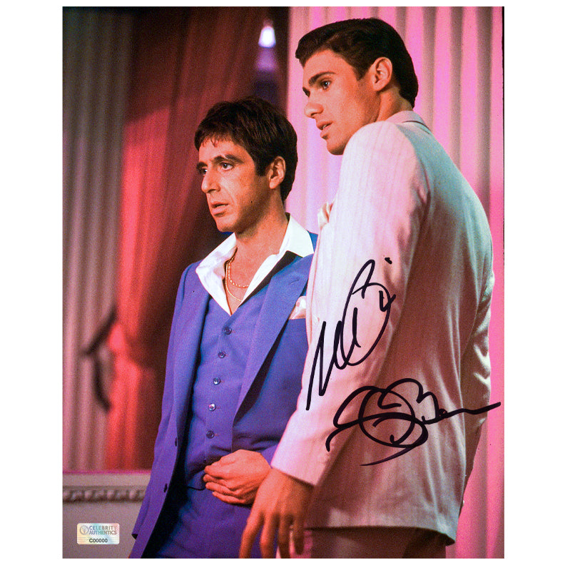 Al Pacino, Steven Bauer Autographed Scarface Tony Montana and Manny Ribera 8×10 Photo