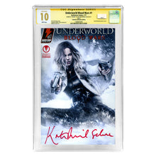 Load image into Gallery viewer, Kate Beckinsale Autographed 2017 Underworld Blood Wars #1 CGC SS 10 Celebrity Authentics Exclusive Variant Cover
