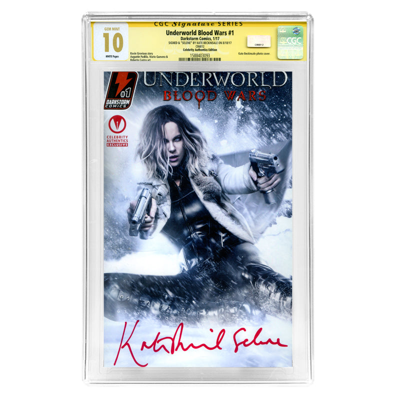 Kate Beckinsale Autographed 2017 Underworld Blood Wars #1 CGC SS 10 Celebrity Authentics Exclusive Variant Cover