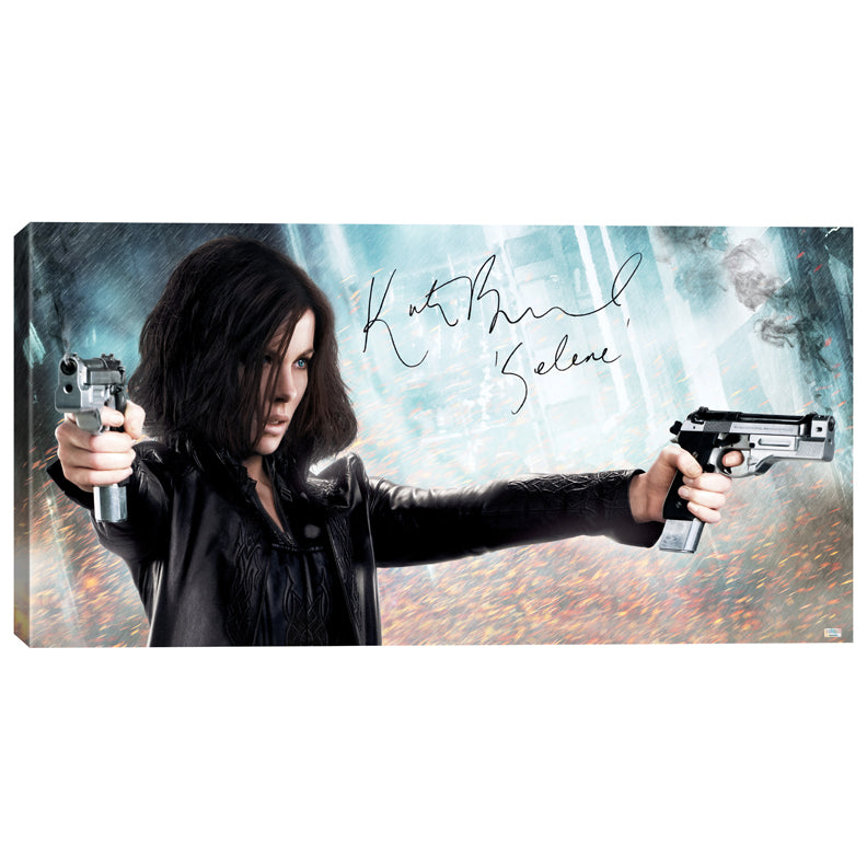 Kate Beckinsale Autographed Underworld Selene 20x40 Canvas