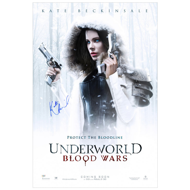 Kate Beckinsale Autographed Underworld Blood Wars Original 27x40 Single Sided Movie Poster