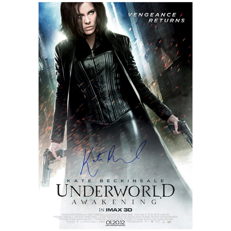 Kate Beckinsale Autographed Underworld Awakening Promo 27×40 Original  Poster