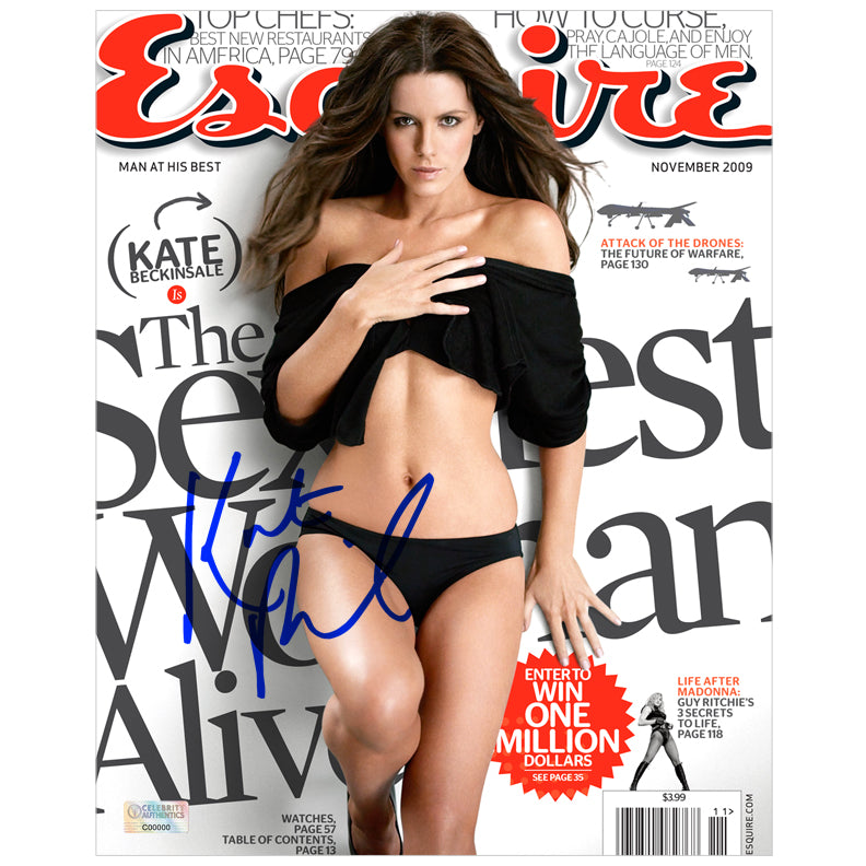 Kate Beckinsale Autographed Esquire 8×10 Cover Photo