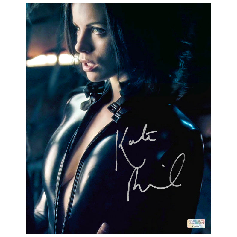 Kate Beckinsale Autographed Underworld: Evolution Selene Death Dealer 8x10 Photo
