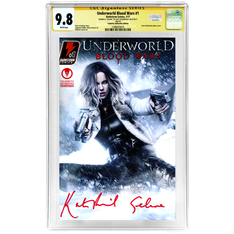 Kate Beckinsale Autographed 2017 Underworld Blood Wars #1 CGC SS 9.8 Celebrity Authentics Exclusive Variant Cover