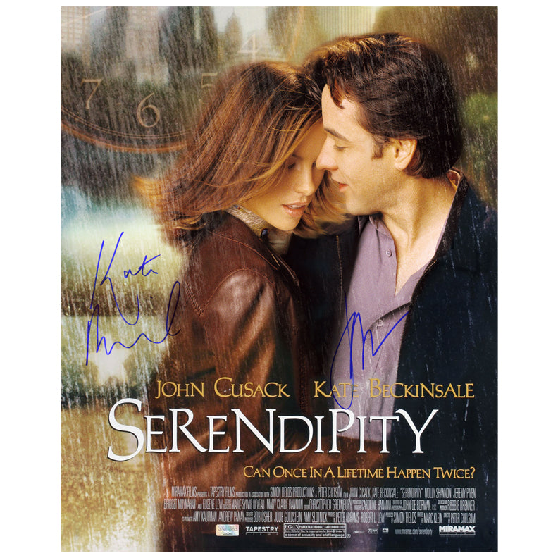 Kate Beckinsale and John Cusack Autographed Serendipity 16×20 Poster