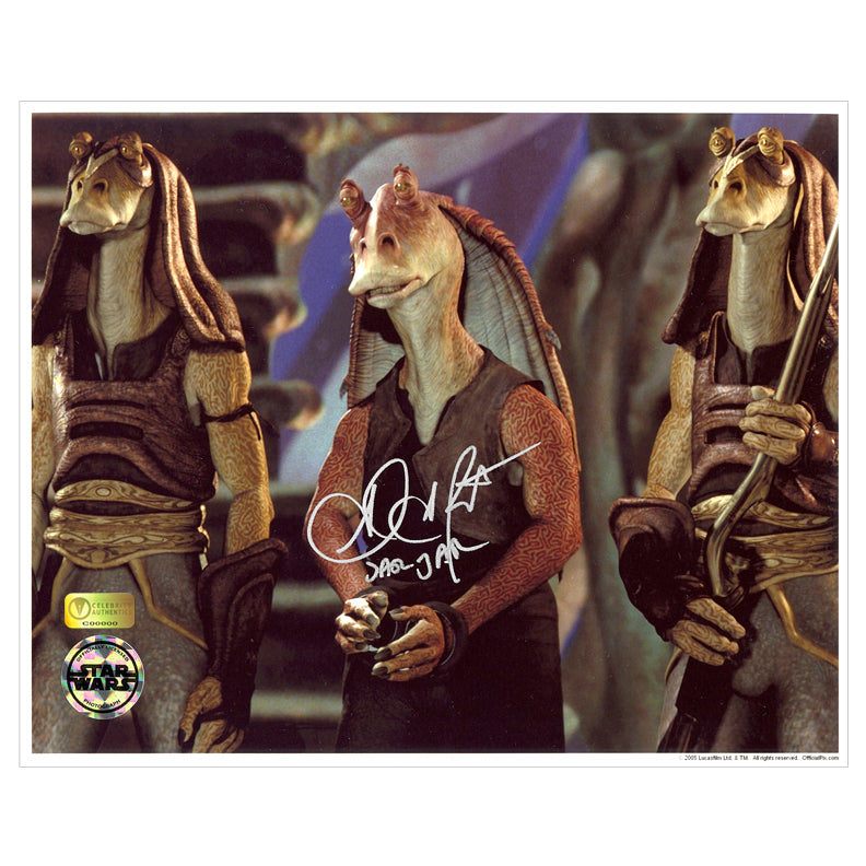 Ahmed Best Autographed Star Wars Jar Jar Binks Prisoner 8x10 Photo
