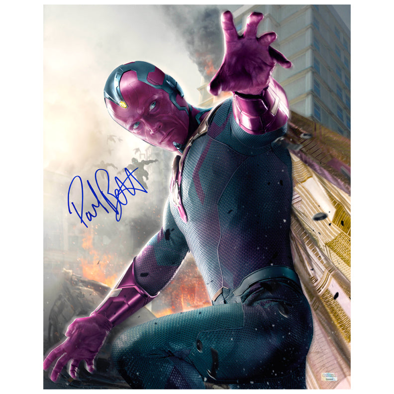 Paul Bettany Autographed Avengers: Age of Ultron Vision 16×20 Photo