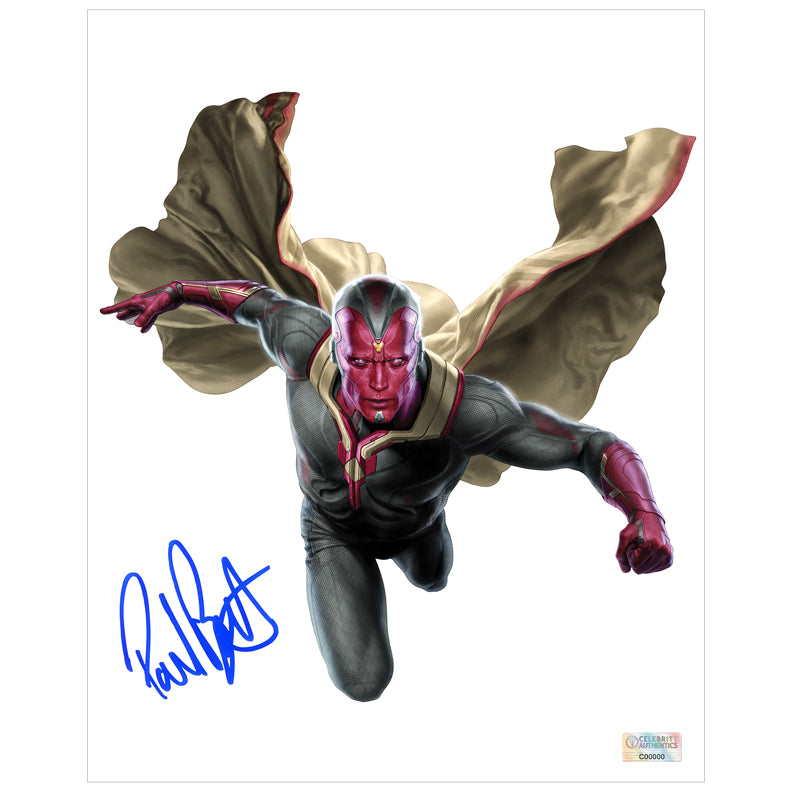 Paul Bettany Autographed Avengers Vision 8×10 Photo
