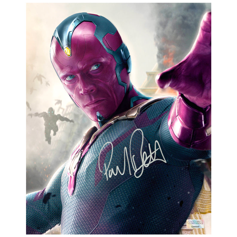 Paul Bettany Autographed Avengers Age of Ultron 8x10 Photo