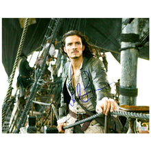 Load image into Gallery viewer, Orlando Bloom Autographed Pirates of the Caribbean Dead Man's Chest Will Turner 11x14 Scene Photo