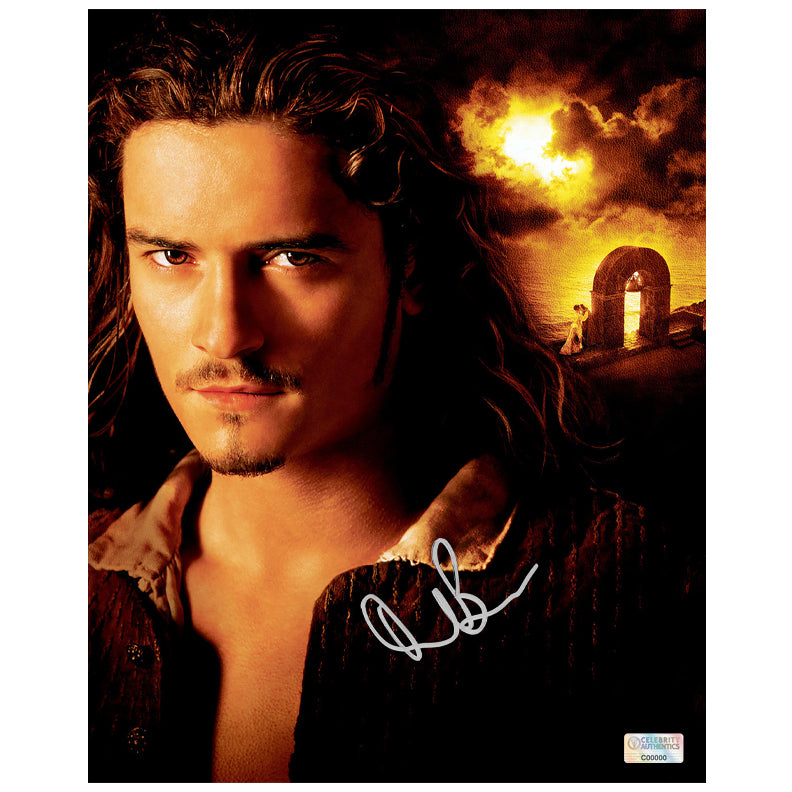 Orlando Bloom Autographed Pirates of the Caribbean 8×10 Portrait Photo