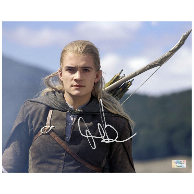 Orlando Bloom Autographed Lord of the Rings Legolas 8×10 Scene Photo