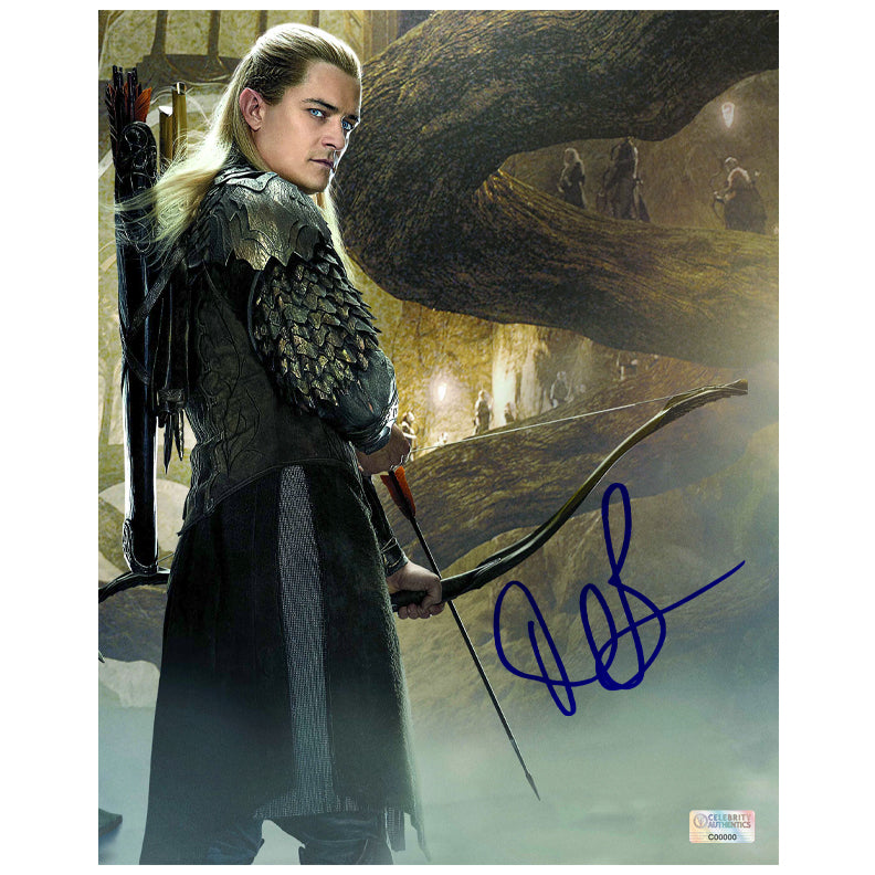 Orlando Bloom Autographed The Hobbit The Desolation of Smaug Legolas 8×10 Scene Photo