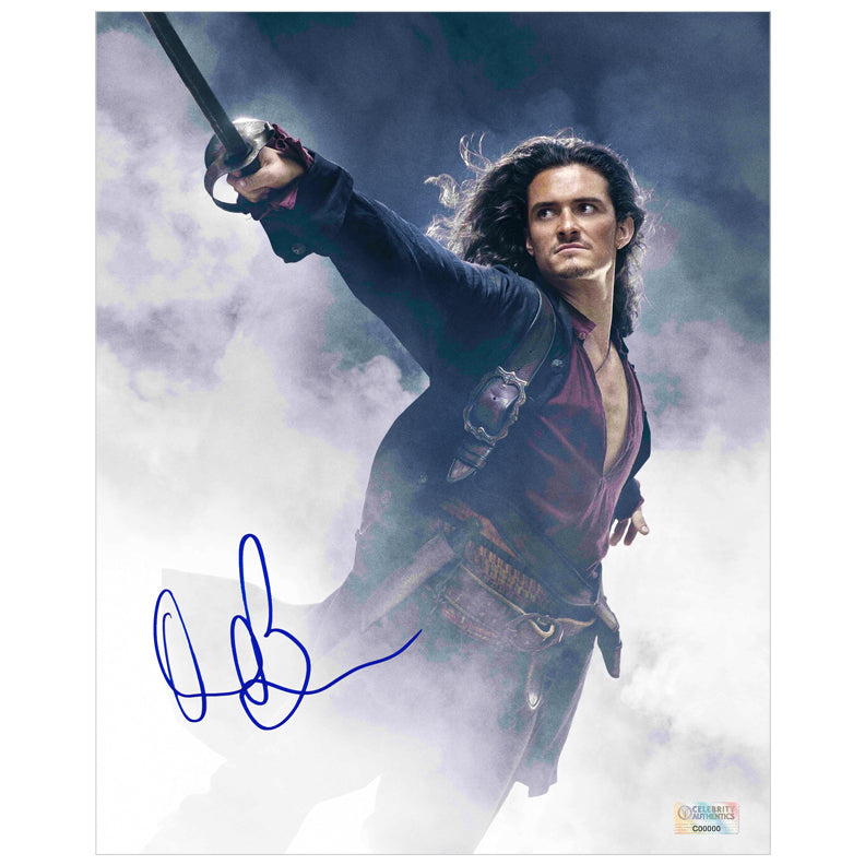 Orlando Bloom Autographed Pirates of the Caribbean Will Turner 8×10 Photo