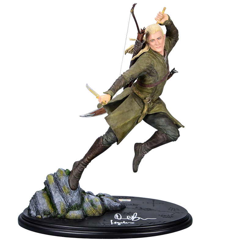 Orlando Bloom Autographed The Hobbit Legolas 1/6 Scale Weta Statue with 'Legolas' Inscription