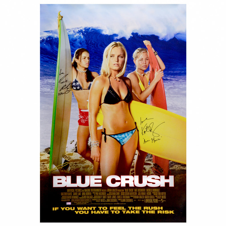Kate Bosworth, Michelle Rodriguez Autographed Blue Crush 27x40 Single-Sided Movie Poster