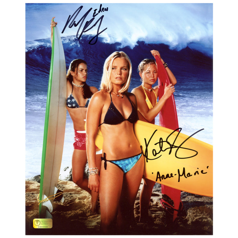 Kate Bosworth, Michelle Rodriguez Autographed Blue Crush 8x10 Photo