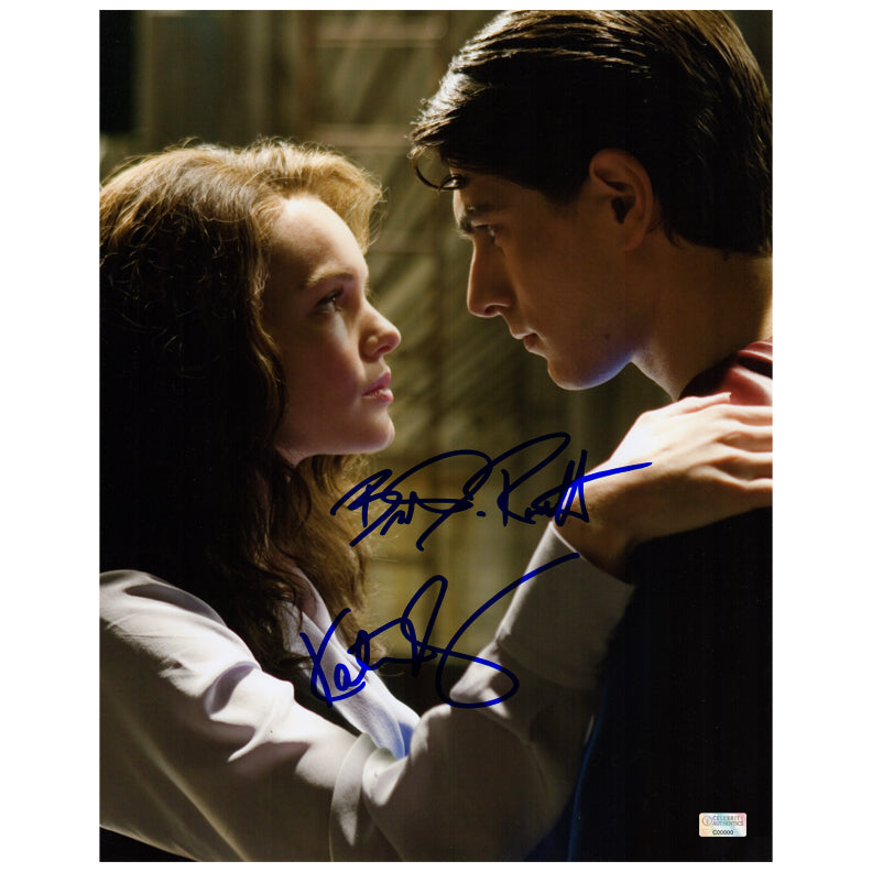 Brandon Routh and Kate Bosworth Autographed Superman Returns Lois Lane and Superman Scene 11x14 Photo