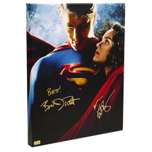 Load image into Gallery viewer, Brandon Routh and Kate Bosworth Autographed Superman Returns 16x20 Imax Canvas