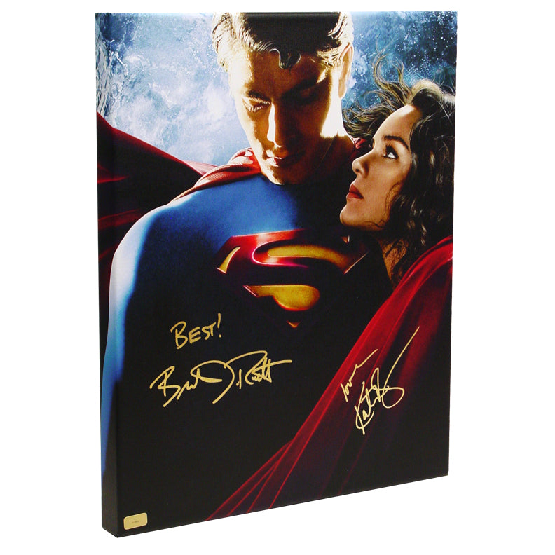 Brandon Routh and Kate Bosworth Autographed Superman Returns 16x20 Imax Canvas