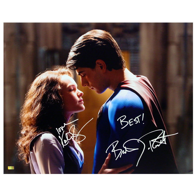 Brandon Routh, Kate Bosworth Autographed Superman Returns Embrace 16x20 Photo