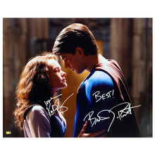 Load image into Gallery viewer, Brandon Routh, Kate Bosworth Autographed Superman Returns Embrace 16x20 Photo