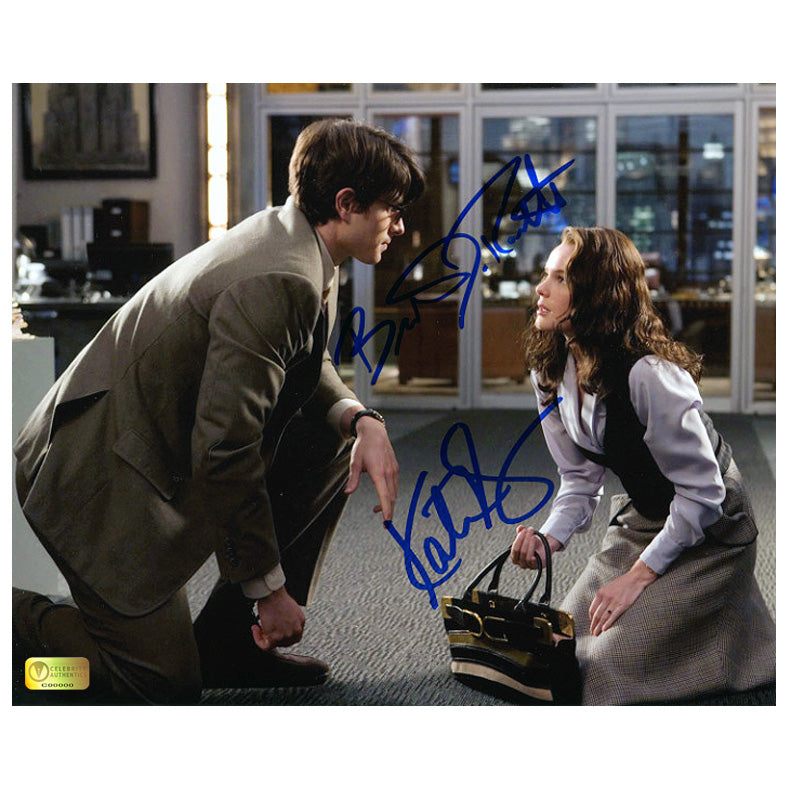 Brandon Routh and Kate Bosworth Autographed Superman Returns Daily Planet 8x10 Scene Photo