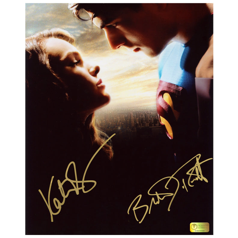 Brandon Routh and Kate Bosworth Autographed Superman Returns Reunited 8x10 Photo