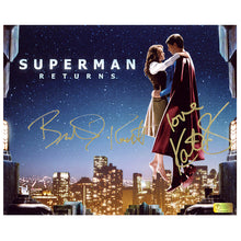 Load image into Gallery viewer, Brandon Routh and Kate Bosworth Autographed Superman Returns Skytop 8x10 Photo