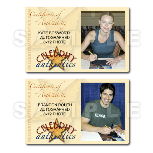 Brandon Routh and Kate Bosworth Autographed Superman Returns 8x12 Photo