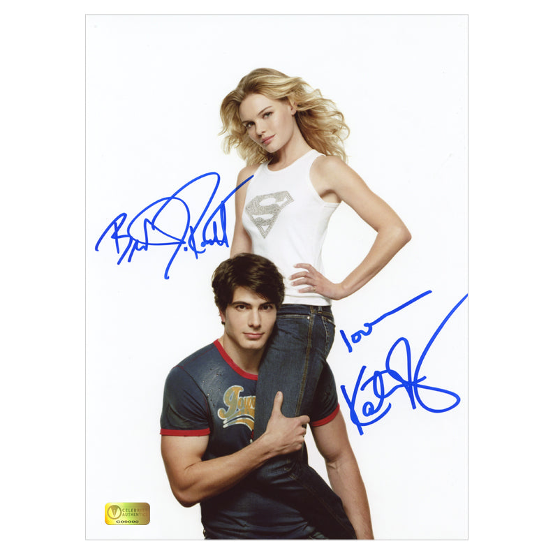 Brandon Routh and Kate Bosworth Autographed Entertainment Weekly 8.5x11 Photo
