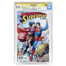 Load image into Gallery viewer, Kate Bosworth, Brandon Routh Autographed Superman #700 CGC SS 9.8